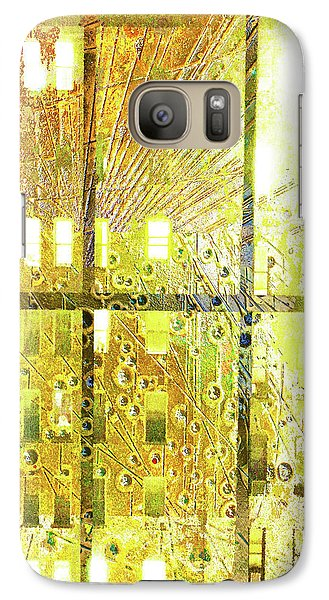 Galaxy Case featuring the mixed media Shine A Light by Tony Rubino