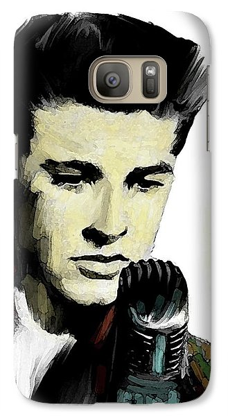 Galaxy Case featuring the painting Shine On Youth  Ricky Nelson by Iconic Images Art Gallery David Pucciarelli