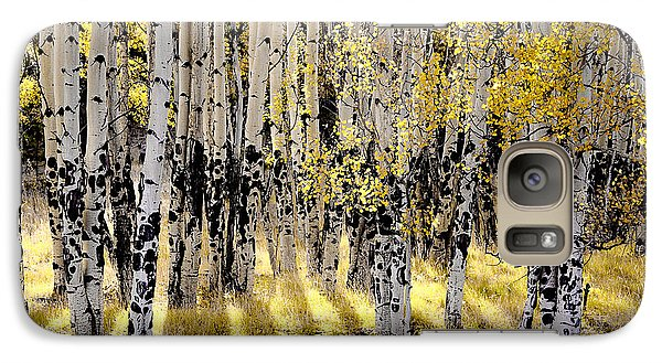 Galaxy Case featuring the photograph Shining Aspen Forest by The Forests Edge Photography - Diane Sandoval
