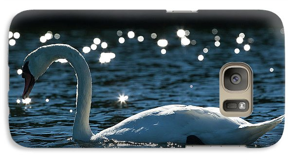 Galaxy Case featuring the photograph Shining Swan by Michelle Wiarda
