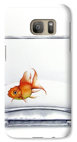 Goldfish Galaxy S7 Case - Shiny by Christina Meeusen