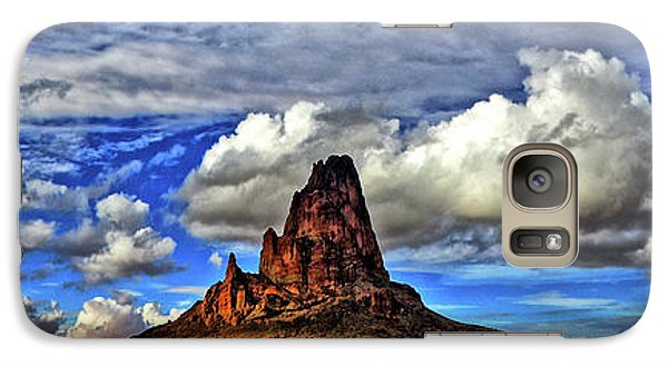 Galaxy Case featuring the photograph Shiprock Panorama by Scott Mahon
