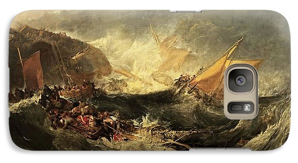 Galaxy Case featuring the painting Shipwreck Of The Minotaur by J M William Turner