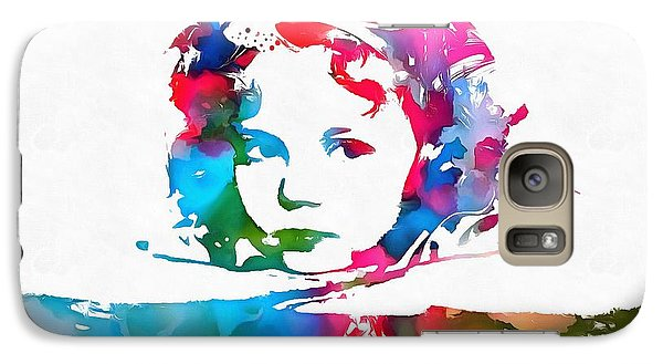 Shirley Temple Watercolor Paint Splatter Galaxy S7 Case