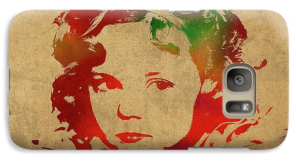 Shirley Temple Watercolor Portrait Galaxy S7 Case