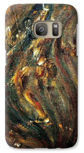 Galaxy Case featuring the painting Shiva Eternal Dance by Harsh Malik