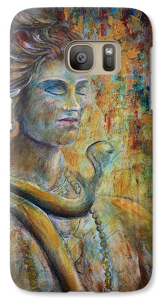 Galaxy Case featuring the painting Shiva2-upclose-portrait by Nik Helbig
