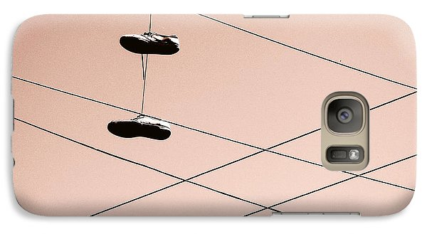 Galaxy Case featuring the photograph Shoes On A Wire by Linda Hollis