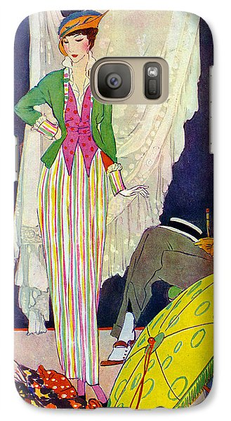 Galaxy Case featuring the photograph Shopping 1914 by Padre Art