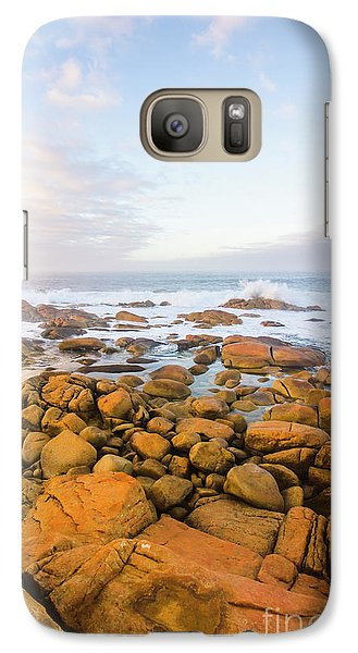 Galaxy Case featuring the photograph Shore Calm Morning by Jorgo Photography - Wall Art Gallery