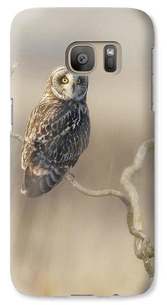 Galaxy Case featuring the photograph Short-eared Owl by Angie Vogel