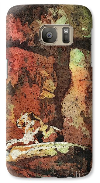 Galaxy Case featuring the painting Short Reprieve by Ryan Fox