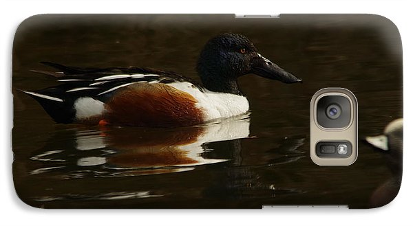 Galaxy Case featuring the photograph Shovel Tail And A Wigeon by Jeff Swan
