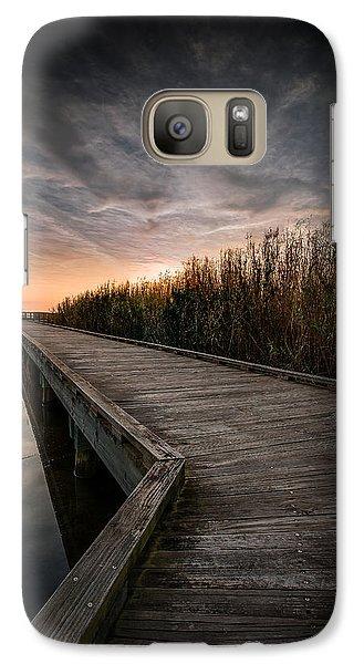 Galaxy Case featuring the photograph Shoveler Boardwalk by Allen Biedrzycki