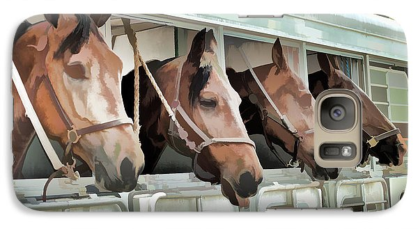 Galaxy Case featuring the photograph Show Horses On The Move  by Wilma Birdwell