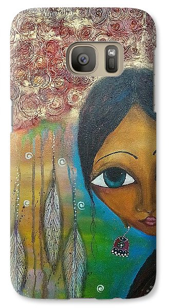 Galaxy Case featuring the mixed media Shower Of Roses by Prerna Poojara