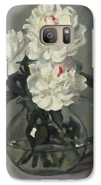 Showy White Peonies In Glass Pitcher Galaxy S7 Case
