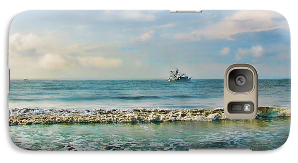 Galaxy Case featuring the photograph Shrimp Boat Off Kiawah by Amy Tyler