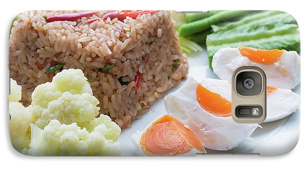 Galaxy Case featuring the photograph Shrimp Paste Fried Rice by Atiketta Sangasaeng