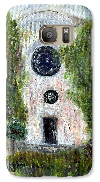 Galaxy Case featuring the painting Shul At 306 by Aleezah Selinger