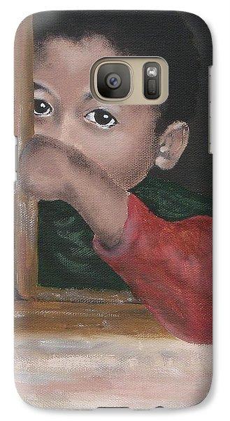 Galaxy Case featuring the painting Shy by Annemeet Hasidi- van der Leij