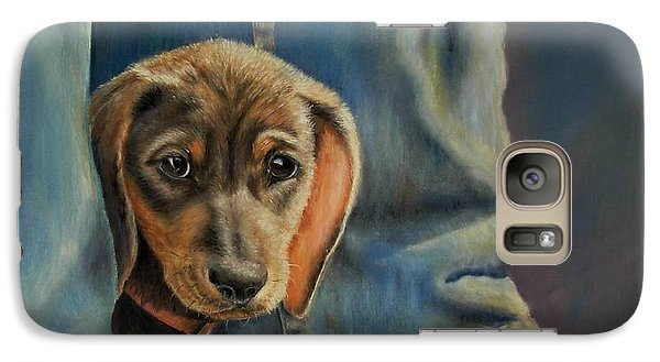 Galaxy Case featuring the painting Shy Boy by Ceci Watson