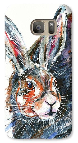 Galaxy Case featuring the painting Shy Hare by Zaira Dzhaubaeva