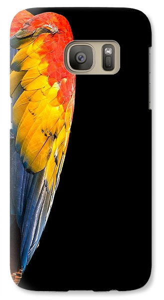 Galaxy Case featuring the photograph Shy Macaw by Rob Amend
