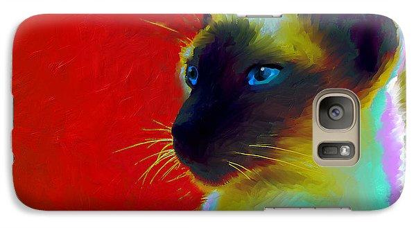 Siamese Cat 10 Painting Galaxy Case by Svetlana Novikova