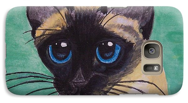 Galaxy Case featuring the painting Siamese by Leslie Allen