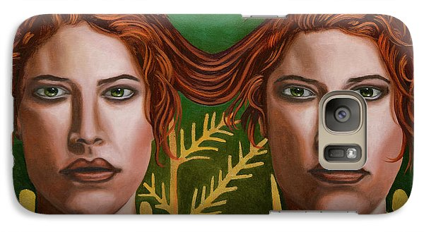 Galaxy Case featuring the painting Siamese Twins 5 by Leah Saulnier The Painting Maniac