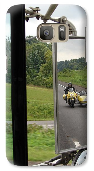 Galaxy Case featuring the photograph Side Car Framed by J R   Seymour