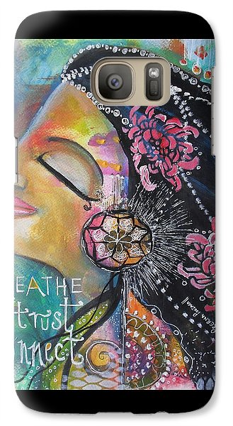 Galaxy Case featuring the painting Side Face With Words by Prerna Poojara