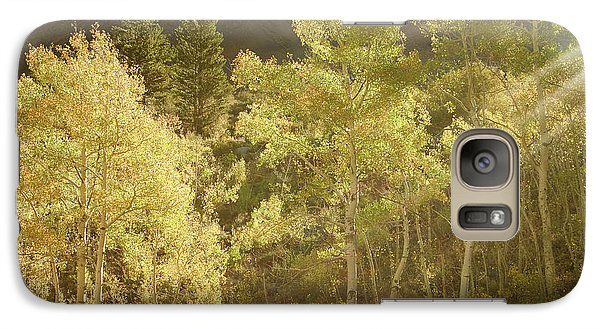 Galaxy Case featuring the photograph Side-lit Aspens - Autumn In Eastern Sierra California by Ram Vasudev