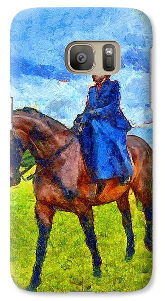 Galaxy Case featuring the photograph Side Saddle by Scott Carruthers