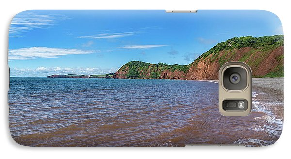 Galaxy Case featuring the photograph Sidmouth Jurassic Coast by Scott Carruthers