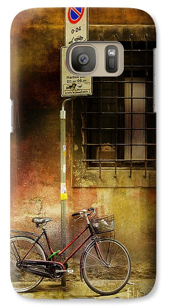 Galaxy Case featuring the photograph Siena Bicycle by Craig J Satterlee