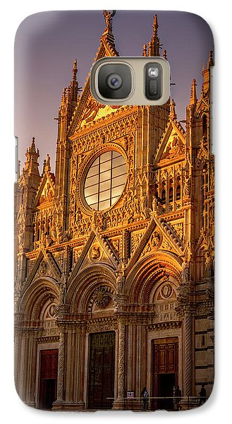 Galaxy Case featuring the photograph Siena Italy Cathedral Sunset by Joan Carroll