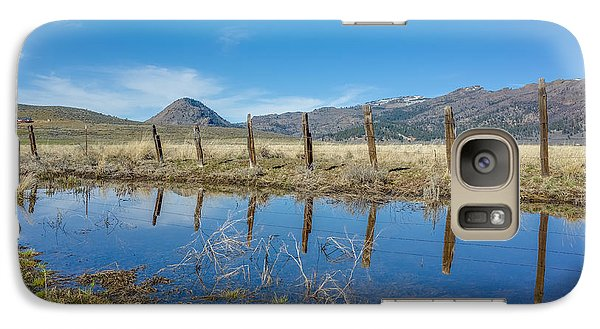 Galaxy Case featuring the photograph Sierra Valley Spring Reflection by Scott McGuire