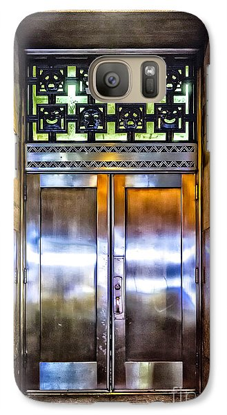Galaxy Case featuring the photograph Sights In New York City - Bright Door by Walt Foegelle