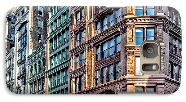 Galaxy Case featuring the photograph Sights In New York City - Colorful Buildings by Walt Foegelle