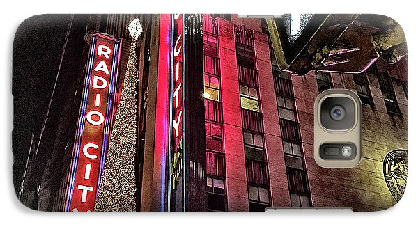 Galaxy Case featuring the photograph Sights In New York City - Radio City by Walt Foegelle