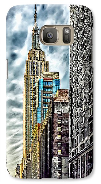 Galaxy Case featuring the photograph Sights In New York City - Skyscrapers 10 by Walt Foegelle