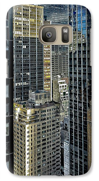 Galaxy Case featuring the photograph Sights In New York City - Skyscrapers Shot From Skyscraper by Walt Foegelle