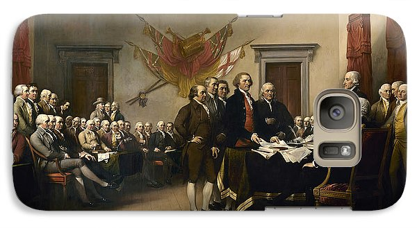 Politicians Galaxy S7 Case - Signing The Declaration Of Independence by War Is Hell Store