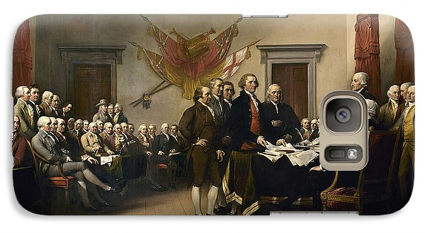 Signing The Declaration Of Independence Galaxy S7 Case by War Is Hell Store