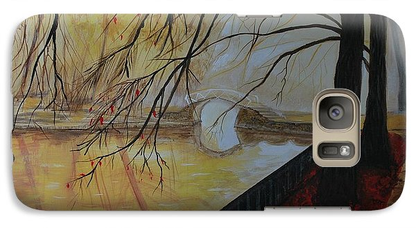 Galaxy Case featuring the painting Silence by Leslie Allen