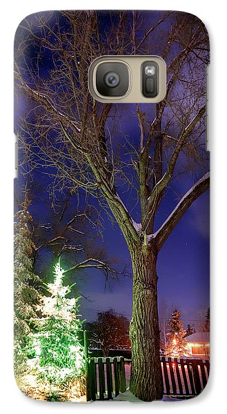 Galaxy Case featuring the photograph Silent Night by Cat Connor