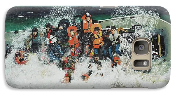 Galaxy Case featuring the painting Silent Screams by Eric Kempson