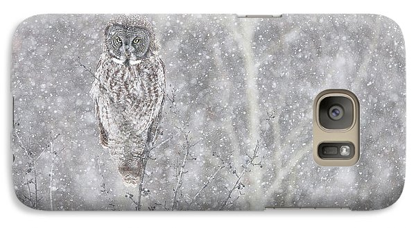 Galaxy Case featuring the photograph Silent Snowfall Landscape by Everet Regal
